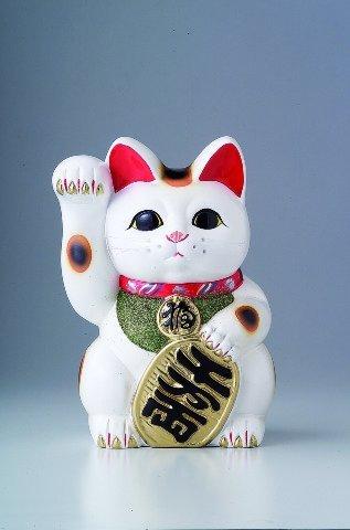 白 小判猫 5号 お金を招く右手 招き猫 常滑焼 B00DRRRJ16 5号|右手 5号
