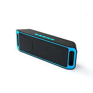 NEWBEING S5 Wireless Bluetooth Speaker, Outdoor Portable Stereo with HD Audio and Enhanced Bass, 12 hours Working , Handsfree Calling, FM Radio and TF Card Slot(Blue)