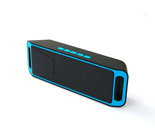 NEWBEING S5 Wireless Bluetooth Speaker, Outdoor Portable Stereo with HD Audio and Enhanced Bass, 12 hours Working, Handsfree Calling, FM Radio and TF Card Slot(Blue)
