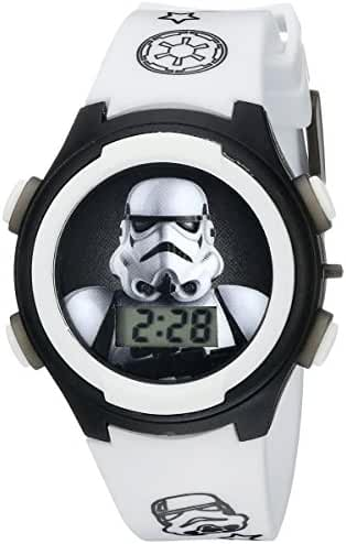Star Wars Kids' STM3488 Digital Display Analog Quartz White Watch