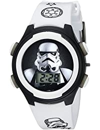 Kids' STM3488 Digital Display Analog Quartz White Watch