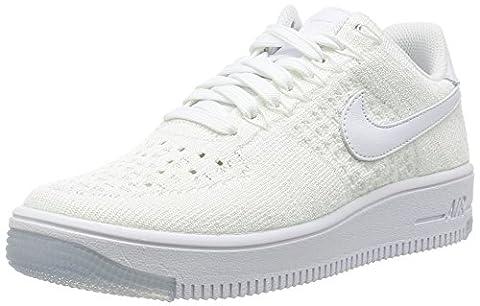 Nike Women's AF1 Flyknit Low White/White Casual Shoe 8 Women US