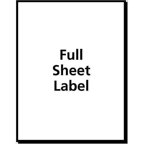 """Avery Clear Full Sheet Labels for Inkjet Printers, 8.5"""" x 11"""", Labels"""