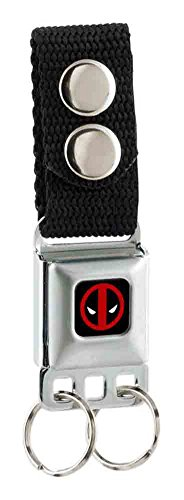 [Buckle-Down Marvel Universe  keychain - Deadpool Logo Full Color Black/r Accessory, -Multi-Colored, One Size] (Buckle Down Belt Buckles)