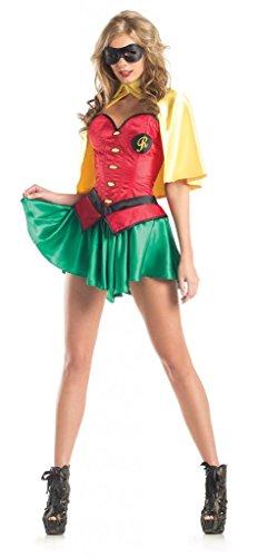 [Costume Adventure Women's Sexy Robyn Costume -M/L] (Robin Corset Costume)