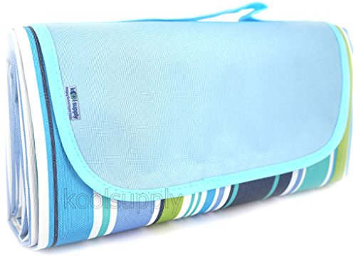 Koolsupply XL Sand & Water Proof Beach Blanket with Free Beach Mesh Bag. 78
