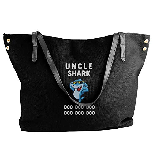 Uncle Shark Canvas Shoulder Bag Satchel Bag
