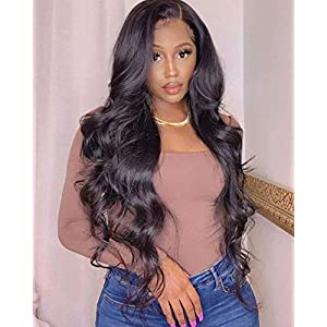 Long Brazilian Real Virgin Human Hair Body Wave 4 Bundle 32 34 36 38 inches Natural Black Remy Hair Weave for Afro…