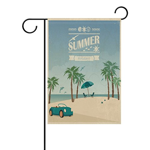 WXLIFE Garden Flag 28 X 40 Large Inches Vintage Summer Beach