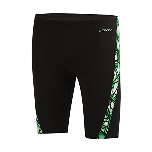 Dolfin Fracture Poly Fusion Jammer Male Green 28 ()