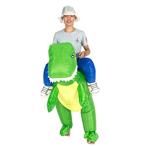 Inflatable Dinosaur Costume Dance (Inflatable Dinosaur T-REX Adult Fancy Dress Costume Handmade Dance Props)