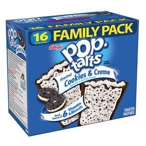 , Frosted Cookies & Creme Toaster Pastries, Value Size, 16 Count, 28.2 oz Box (Pack of 2) ()