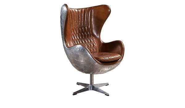 Prime Amazon Com Plata Aviator Spitfire Leather Egg Chair Ibusinesslaw Wood Chair Design Ideas Ibusinesslaworg
