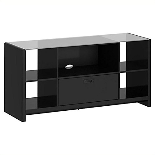 - Bush Furniture Kathy Ireland Office New York Skyline Credenza/TV Stand, Modern Mocha