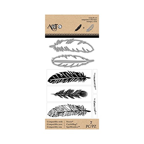 Momenta 26220 N/A Stamp & Die Set-Large Feathers by Momenta