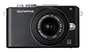 Olympus PEN E-PL3 14-42mm 12.3 MP Mirrorless Digital Camera with CMOS Sensor and 3x Optical Zoom (Black)
