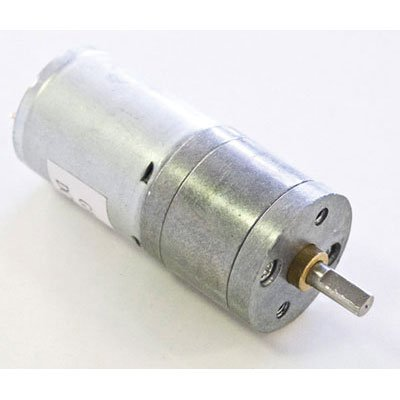DAGU HI-TECH ELECTRONICS RS003A Geared Motor, 75:1 Ratio, 133 RPM, 6V, Steel Gears, 4 mm Shaft Diameter, 2.2'' L x 0.98'' Dia