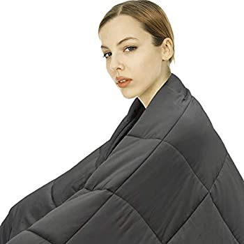 Image of joybest Weighted Blanket (18 lbs, 60''x80'', Queen Size) | Heavy Blanket for Adults Women Men | Comfortable Breathable Cotton Material | Great Sleep Blanket with Glass Beads joybest B07G93YHRJ Weighted Blankets