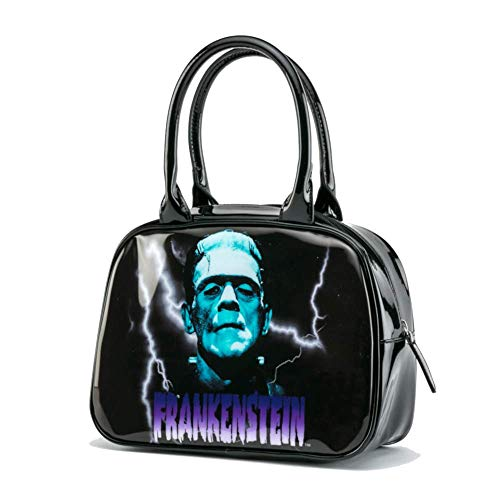 Rock Rebel Blue Frankenstein Bowler Handbag