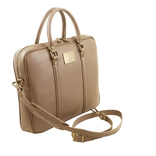 cartella Caramello TL141626 Caramello pelle notebook porta Saffiano in Tuscany Leather Esclusiva Prato Pwqn6Ft6
