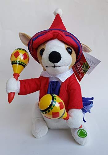 Be Jolly 14 Inch Mariachi Puppy Animated Maraca's Musical Plush - Sings Donde Esta Santa Claus ()