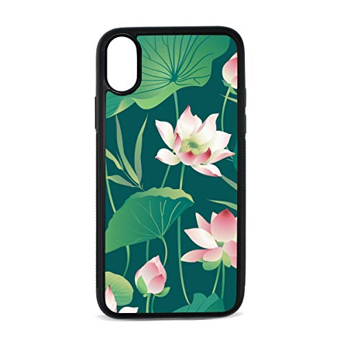 iPhone Magic Lotus with Bright Thinking Zen Life Spirit Meditation Yoga Digital Print TPU Pc Pearl Plate Cover Phone Hard Case Accessories Compatible with Protective Apple Iphonex/xs Case 5.8 Inch ()