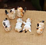 DeemoShop Cute Cat Mini Animal Porcelain Craft Micro Landscaping Decor Home Wedding Decoration DIY Accessories