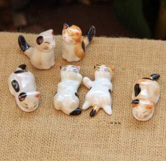 DeemoShop Cute Cat Mini Animal Porcelain Craft Micro Landscaping Decor Home Wedding Decoration DIY Accessories