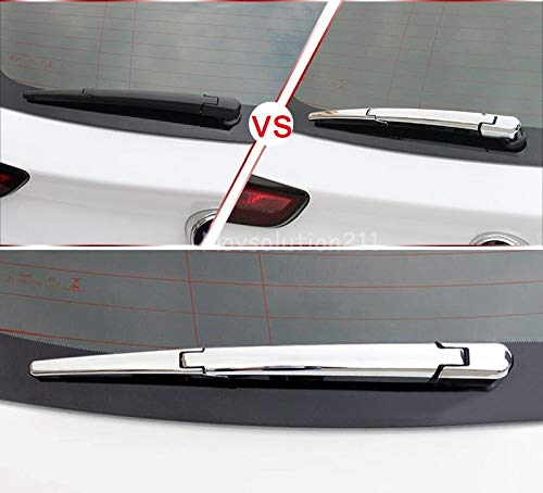 Star-Trade-Inc - For Opel Astra K Hatchback ABS Chrome Exterior Rear Window Wiper Noozle Cover Trim 3pcs Car Styling Auto Accessories