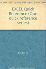 Excel Quick Reference (Quick Reference Series) Paperback