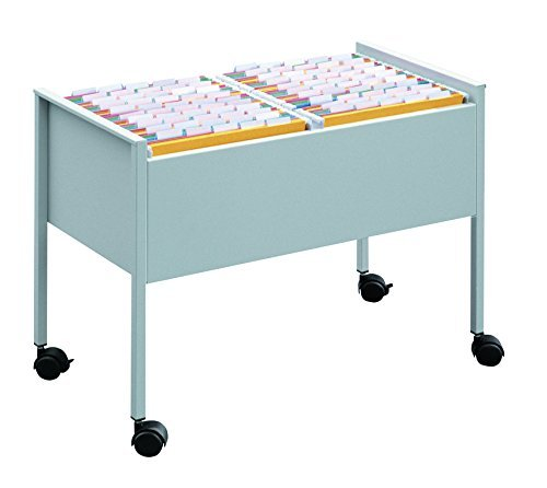 Durable ECO Suspension File Trolley for 100 A4 - Grey Black/Silver by Durable