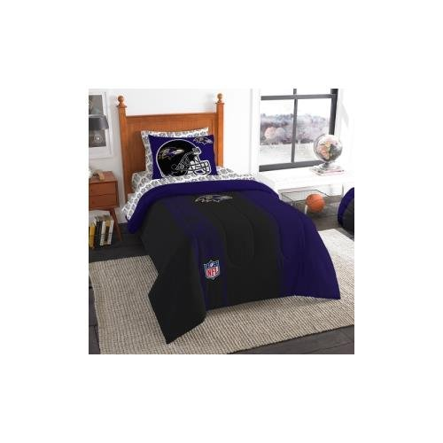 The Northwest Company Officially Licensed NFL Baltimore Ravens Soft & Cozy 5-Piece Twin Size Bed in a Bag Set