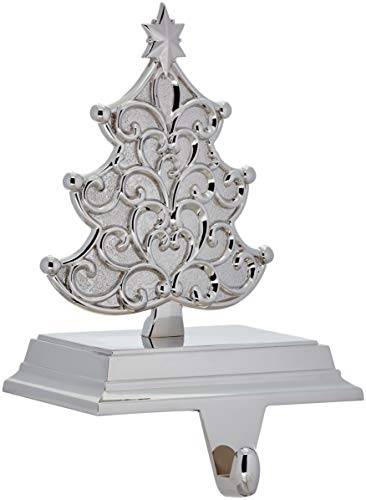 Lenox Silver & Scroll Tree Stocking Holder