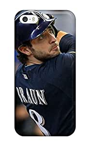 Hot BATsVlA5433gOKYR Braun Baseball Tpu Case Cover Compatible With Iphone 5/5s(3D PC Soft Case)