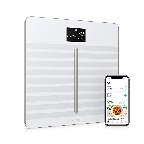 Withings | Body Cardio - Heart Health & Body Composition Digital Wi-Fi Scale with smartphone app, White