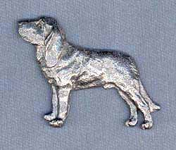Bloodhound Pewter Pin ()