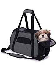 Airline Approved Pet Carrier-Portable Cat/Dog Carrier Bag Top Opening, Soft Sided Pet Carrier Removable Mat and Breathable Mesh, Dog Carrier Transport Bag for Small Dogs and Cats