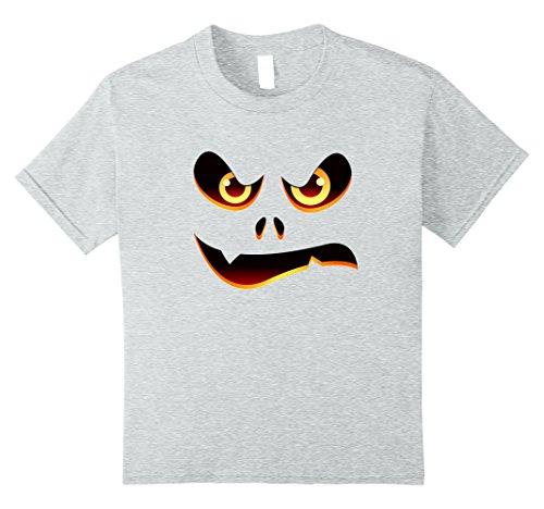 Creative Kids Halloween Costume Ideas (Kids Halloween Angry Face - Creative Costume Idea Shirt 10 Heather Grey)