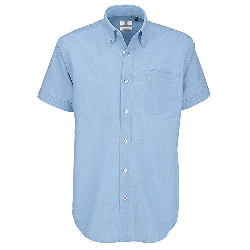 Importantes Hombre Corta trabajo eventos Camisa amp;c Modelo Oxford Para Grandes Azul Chip De tallas Manga B Caballero Fiesta S1xZwI4vqv