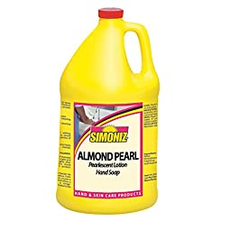 Simoniz CS0215004 Almond Pearl Liquid Hand Soap, 1 gal Bottles per Case (Pack of 4)