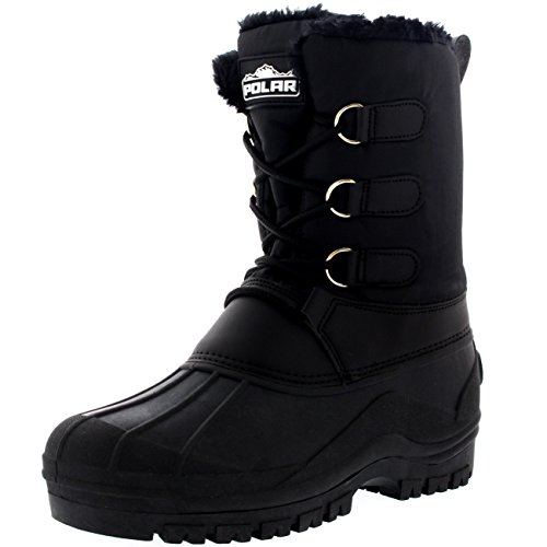 Up Durable Nylon Waterproof Duck Womens Lace Muck Ankle Black Boots Outdoor aOxPwqE0