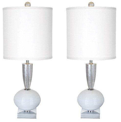 (Van Teal 130872PR Odessa Table Lamps, White, 2)
