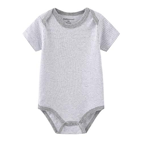 Chamie Newborn Baby Bodysuit 5-Pack Short-Sleeve Onesies Baby Clothes for Boys and Girls