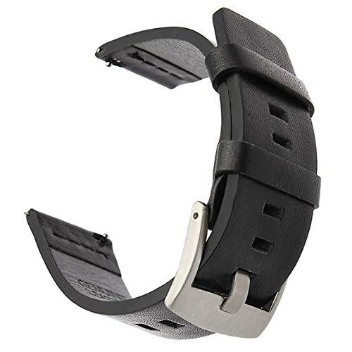 Jewh Italian Oily Leather Watchband for Withings Activite/Pop / Steel - HR 36mm LG