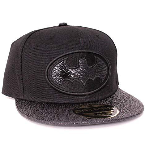 DC Comics Batman Estilo De Piel Logo Gorra Snapback: Amazon.es: Ropa y accesorios