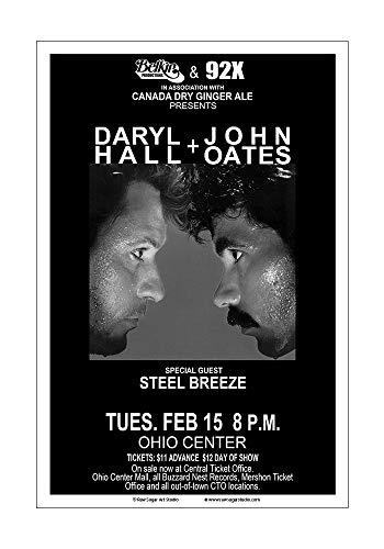 (Raw Sugar Art Studio Hall and Oates 1983 Columbus Concert Poster)