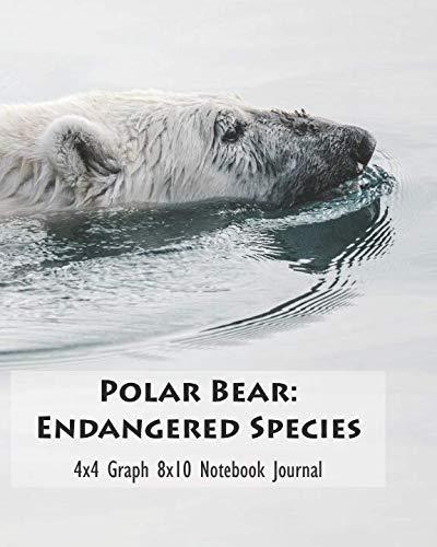 (Polar Bear: Endangered Species 4x4 Graph 8x10 Notebook Journal)