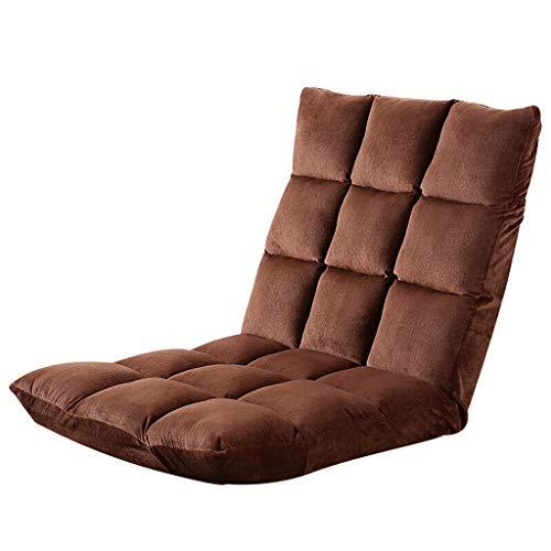 床怠惰なソファ床椅子 ゲーミングチェアとして使用するための背部サポート付き怠惰なソファーチェア、2色(カラー:A) B07STY64DL A