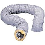 gaine de ventilation isolée - pvc - diamètre 80 mm - 6 mètres - atlantic 423050