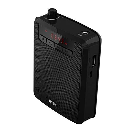 Voice Amplifier, Rolton Portable Voice Amplifier Waist Band Clip with FM TF MP3 Powerbank for Tour Guides Teachers Teaching Microphone